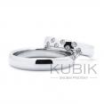 snubní prsteny z oceli nebo titanu 7ks zirkonů 1.5mm leštěné
